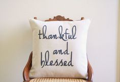 Thankful and Blessed  by Andrea Kollo on Etsy  alpaca knit scarf art painting soy candles christmas gifts copper leaf earrings cyber monday fishing wire basket hand knit hand made handmade cotton napkins handmade jewelry decor handmade necklace earrings kitchenware rustic christmas rustic decor silver arrow necklace sun moon ying yang thankful bless pillow treasurybox winter slippers booties