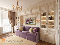 Фото интерьер гостиной из проекта «Дизайн однокомнатной квартиры 48 кв.м. в классическом стиле, ЖК «Жемчужный фрегат» »