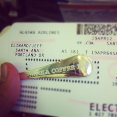 Cupping spoon and boarding pass. The jeffs are off to Portland. - @portolacoffeelab- #webstagram