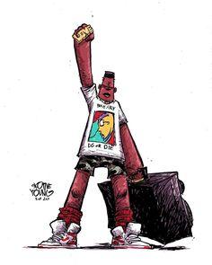 """7,814 Me gusta, 81 comentarios - skottie young (@skottieyoung) en Instagram: """"Radio Raheem."""" Comic Art, Comic Books, Skottie Young, Robert Mcginnis, Transformers Art, Young Black, Thundercats, Black Women Art, Jack Kirby"""