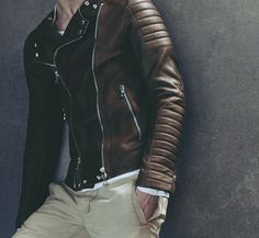 Great detail on this leather Jacket - Balmain #man style