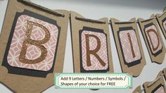 Bridal Shower Banner / Bride To Be / Rustic / by ClairPaperCrafts