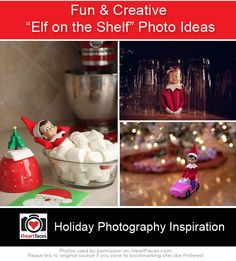 {Elf on the Shelf} Creative Photo Ideas Christmas Time Is Here, Christmas And New Year, Christmas Holidays, Christmas Crafts, Happy Holidays, Christmas Ideas, Xmas, Holiday Photos, Holiday Fun