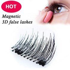 4 pieces, 2 Sets Magnetic Eyelashes 3D Reusable False Magnet Eye Lashes Extension
