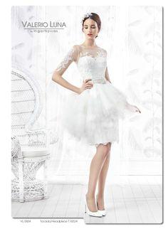 Elegantes, cómodos y alejados de convencionalismos... Vestidos cortos para novias #ValerioLuna #Entrebastidores http://blog.higarnovias.com/2015/08/11/vestidos-de-novia-cortos-2/#more-1719