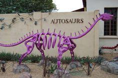 Metal dinosaur sculpture!