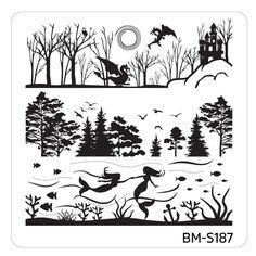Mystic Woods Nail Stamp Plate - Sky + Sea – Bundle Monster