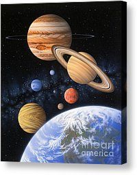 Beyond The Home Planet Painting by Lynette Cook - Beyond The Home Planet Fine Art Prints and Posters for Sale