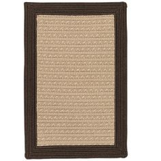 Breakwater Bay Dartmouth Hand-Woven Brown Indoor/Outdoor Area Rug Rug Size: