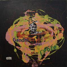 Original Portrait Painting by Denisa Kolarova Black Background Painting, Rorschach Test, Ice Bars, Thing 1, My Signature, Andy Warhol, Black Backgrounds, Saatchi Art, Canvas