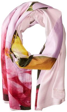 Ted Baker London Women's Calan Citrus Bloom Split Scarf, Nude Pink, One Size