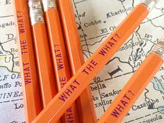What the What Pencil 6 Pack. $8.50, via Etsy.