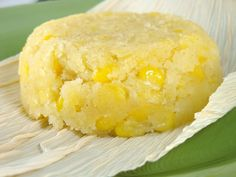 Sweet Corn Cake  1/2 cup / 1 stick unsalted butter, at room temperature  1/3 cup masa harina ( corn flour used for tortillas etc, pic below )  1/4 cup water  1 1/2 cups frozen corn kernels, thawed  1/4 cup cornmeal  ( pic below )  1/3 cup sugar  2 tbsp heavy cream  1/4 tsp salt  1/2 tsp baking powder