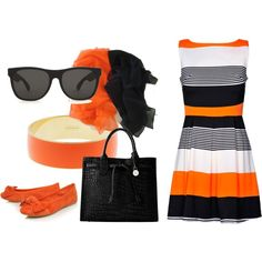 black and orange style,