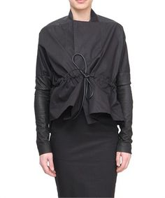 Short jacket with leather sleeves Rick Owens