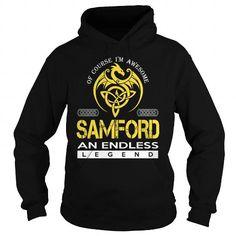 Awesome Tee SAMFORD An Endless Legend (Dragon) - Last Name, Surname T-Shirt T shirts