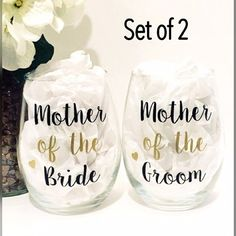 Mother of the Bride wine glass  Mother of the by OhSoSweetandSassy