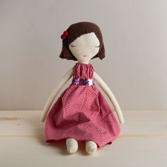 pink muny rag doll, tall