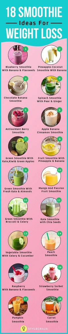 Want to get rid of your pot belly and thunder thighs? Or do you want to stay healthy and fit? Then, you must try out these effective weight loss smoothies.