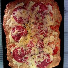 First attempt at making keto cauliflower crust pizza #keto #ketogenic #ketopizza #yum #ketodiet #ketochallenge #secondmonthketo #feelingbetter #feelinghealthy #insta #instagram #instafood #food #foodie - Inspirational and Motivational Ketogenic Diet Pins - Eat Keto Get Into Nutritional Ketosis - Discover LCHF to Prevent Diseases - Enjoy Low-Carb High-Fat Lifestyle For Better Health