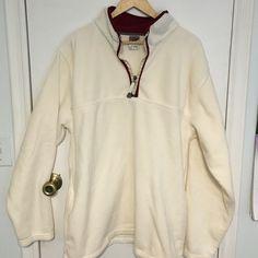 Foot locker half zip fleece pullover Foot locker brand half zip fleece pullover in cream and burgundy. Oversized XL. unisex.   Bundle 2 or more items from my closet and save 15%!! Foot locker Tops Sweatshirts & Hoodies
