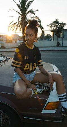 trendy sport outfit for women soccer Vintage Football Shirts, Soccer Shirts, Soccer Jerseys, Jersey Outfit, Jersey Shirt, Football Outfits, Sport Outfits, Soccer Boyfriend, Jersey Adidas