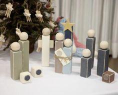 wood block nativity set, I really love the simplicity!