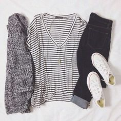 chucks//stripes//sweater