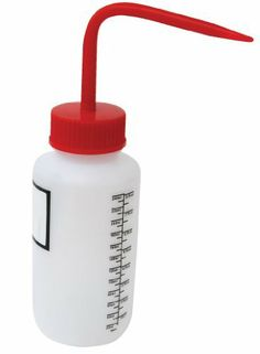 Vestil BTL-WW-8R-LBL Wide Mouth Low Density Polyethylene (LDPE) Round Squeeze Wash Bottle with Label and Red Cap, 8 oz Capacity, Translucent by Vestil. $5.09. Vestil tin bottle with brush lid is perfect for use in applications where glass and plastic are too fragile. Tin-plated steel construction is perfect for transportation and storage of paints and lacquers. Includes brush-cap for dispensing contents. Metallic cap is constructed of tin with a polyethylene (PE)...