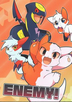 Pokemon Doujinshi - Enemy! (Zangoose Ninetales Vulpix and Seviper)