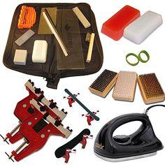 Ultimate Dual Snowboard Ski Kit Metal Vise Iron Tools Wax  More Read more  at the image link.