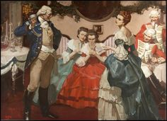 """""""Christmas, 1776"""" - illustration for The American Magazine, January 1940 - by Mead Schaeffer"""