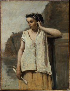 Camille Corot (Jean-Baptiste Camille Corot, 1796-1875, France) - The Muse, History ca. 1865