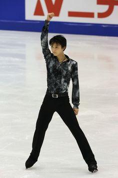 SAPPORO, JAPAN - DECEMBER 21: Yuzuru Habu competes in the Mens Short Program during day one of the 81st Japan Figure Skating Championships at Makomanai Sekisui Heim Ice Arena on December 21, 2012 in Sapporo, Hokkaido, Japan.