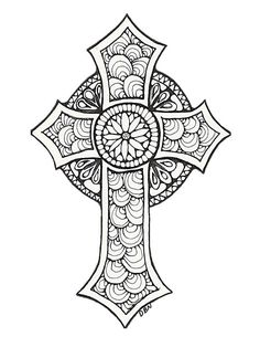 Cross Adult Coloring Pages Unique Items Similar to Adult Colouring Page Cross original Cross Coloring Page, Free Adult Coloring Pages, Mandala Coloring Pages, Coloring Pages To Print, Free Printable Coloring Pages, Colouring Pages, Coloring Books, Coloring Sheets, Cross Drawing