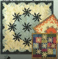 Mystic Ponds Quilt Pattern in 3 Sizes by Black Cat Creations at KayeWood.com. Mystic Ponds is made with Quarter Blocks which form a complete block when four are joined together.  Individual blocks form the border and special effects in the quilt.  The pattern is presented in both traditional and modern settings.  The pattern includes instructions for three different sizes. http://www.kayewood.com/Mystic-Ponds-Quilt-Pattern-in-3-Sizes-by-Black-Cat-Creations-BCC-MYPO.htm $12.00