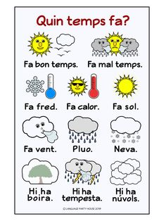 Catalan Weather and Seasons Posters and Printables Catalan Language, Seasons Posters, World Languages, Language Lessons, Teacher Pay Teachers, Teacher Newsletter, Higher Education, House Party, Homeschool