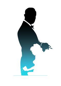 james bond 007 silhouette party ideas pinterest james bond silhouettes and free silhouette