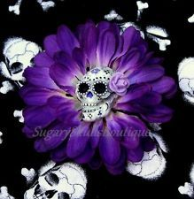 Day of The Dead Pin Up Hair Clip Accessories Tattoo Sugar Skull