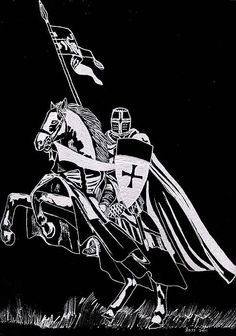 Knight Templar Canvas Print / Canvas Art by Jim Ross