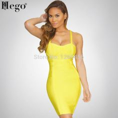 HEGO 2015 Women New Fashion Criss Cross Backless Brand Prom Dress Yellow HL158 Club Dresses, Prom Dresses, Summer Dresses, New Model, Two Pieces, Yellow Dress, Criss Cross, New Fashion, Backless