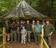 Bushcraft parachute canopy shelter!