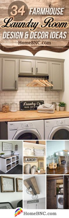 Farmhouse Laundry Room Decor Ideas