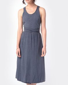 Mohawk - Wrap Dress in Midnight - http://www.mohawkgeneralstore.com/products/wrap-dress-in-midnight