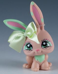 Littlest Pet Shop Rabbit #548 Peach Tan With Green Eyes #Hasbro