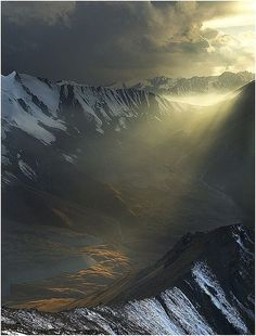 nice Light in the Dark, Altay Mountains, Kazakhstan...