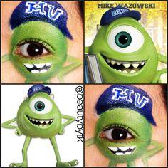 Monster's university inspired eye makeup