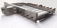 BBQ Cypriot Grill Top Rotisserie Kebab Skewers with Electric Motor - Small