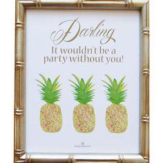 Mari Robeson Pineapple Party Art Print