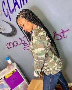 Image may contain: 1 person Large Box Braids, Short Box Braids, Jumbo Box Braids, Cornrows Natural Hair, 4a Natural Hair, Natural Hair Styles, Blonde Box Braids, Black Girl Braids, Girls Braids